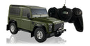 Land Rover Defender (Green) 1/24 Scale Radio Controlled Model Car By Rastar & Remote Control