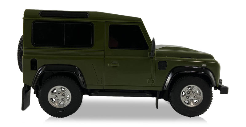 Land Rover Defender (Green) 1/24 Scale Radio Controlled Model Car By Rastar Side View