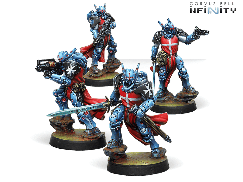 Infinity PanOceania Knights Hospitaller Miniature Game Figures By Corvus Belli
