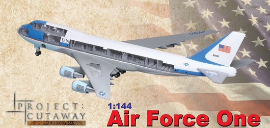 Air Force One Boeing VC-25A (Cutaway) 1/144 Scale Model By Dragon Models