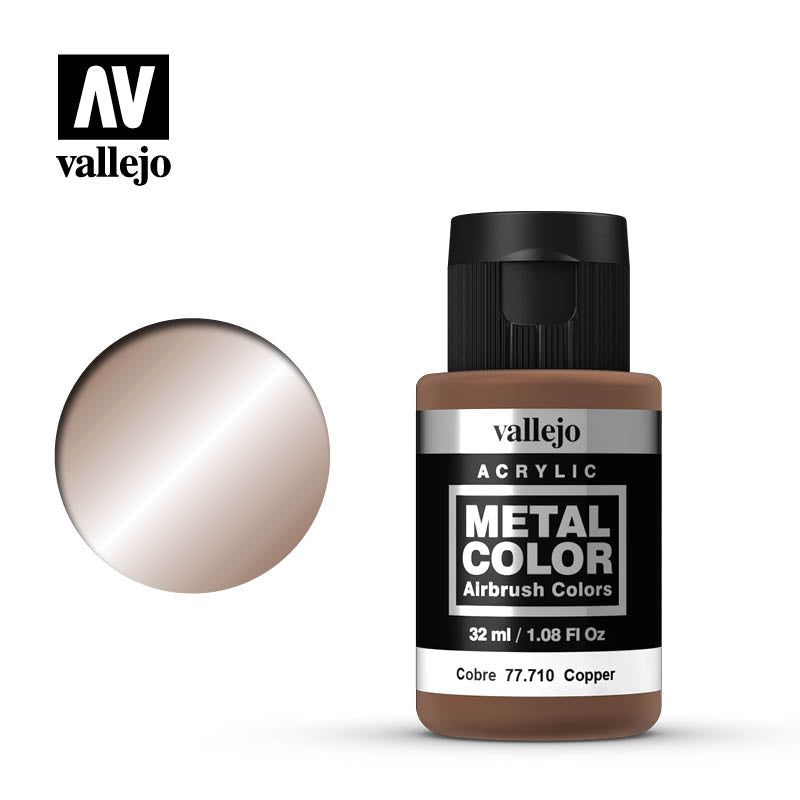Metal Color Copper Acrylic Paint, 32 ml Bottle By Acrylicos Vallejo