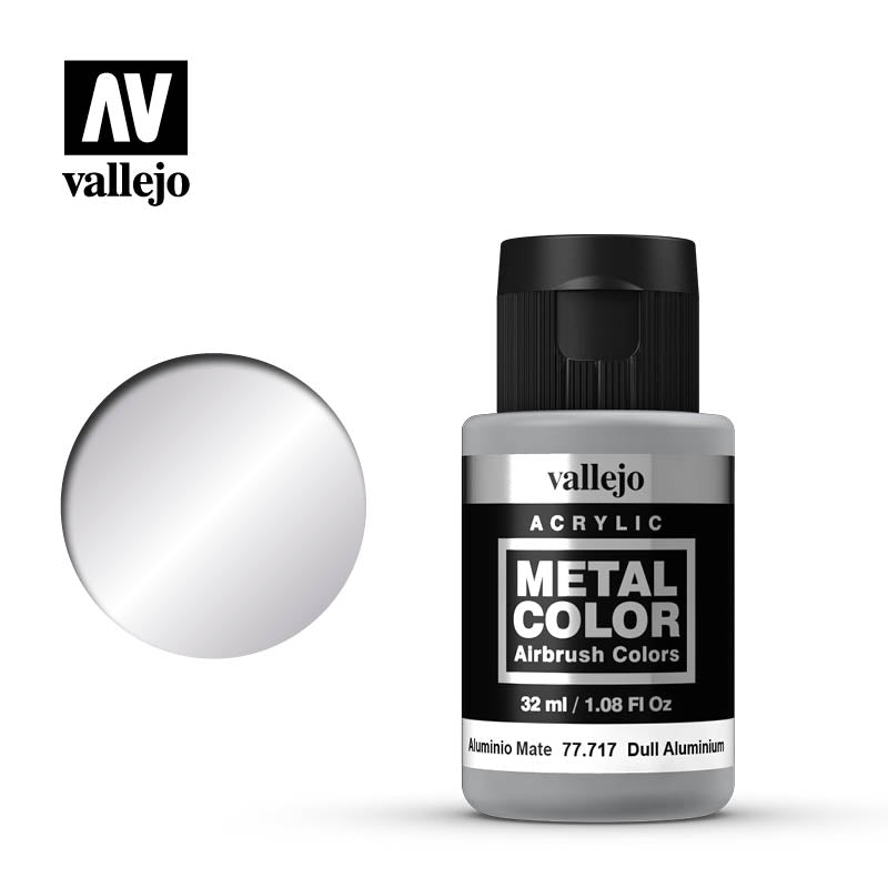 Metal Color Dull Aluminum Acrylic Paint, 32 ml Bottle By Arclyicos Vallejo