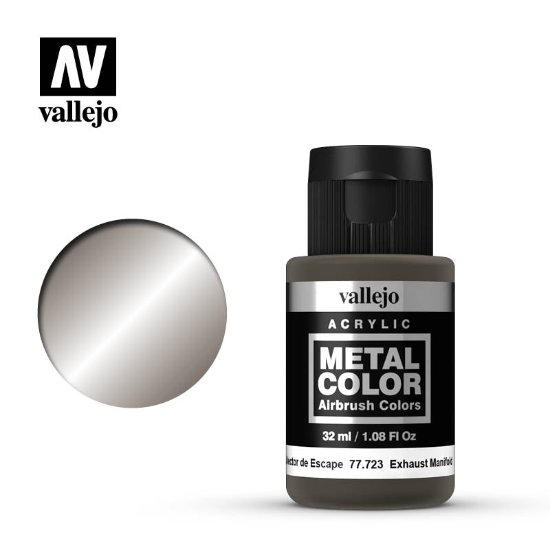 Metal Color Exhaust Manifold Acrylic Paint, 32 ml Bottle By Acrylicos Vallejo