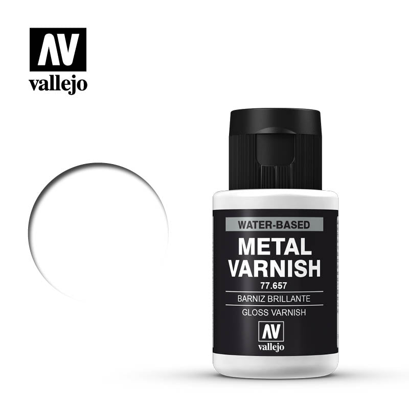 Metal Color Gloss Metal Varnish, 32 ml Bottle By Acrylicos Vallejo