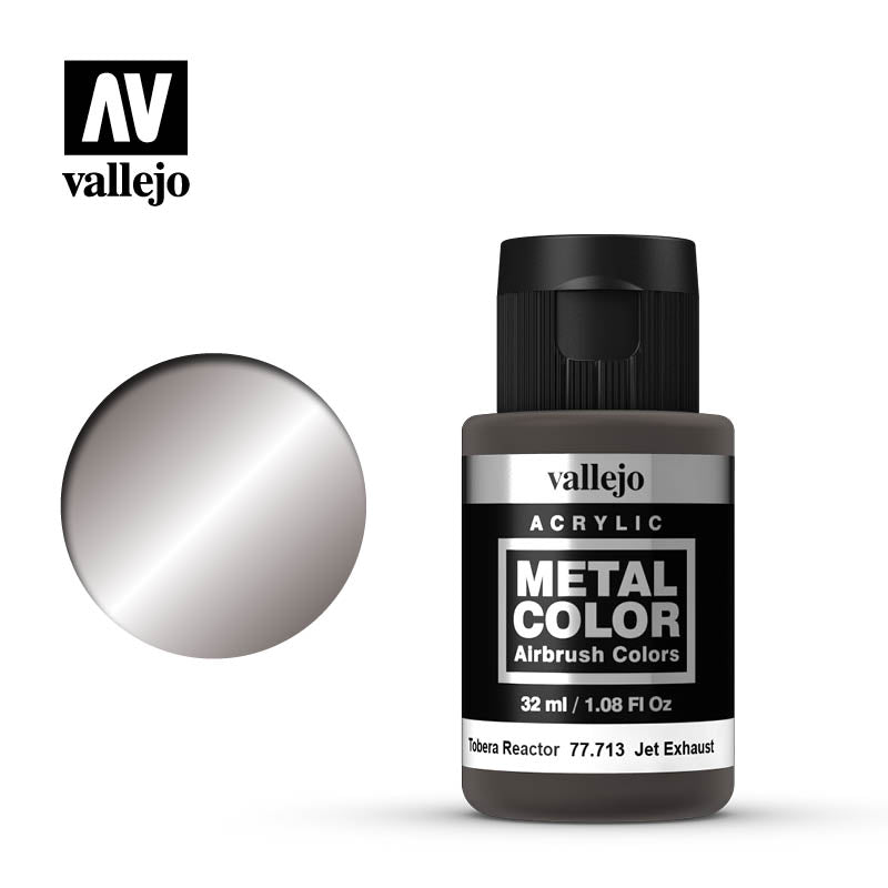 Metal Color Jet Exhaust Acrylic Paint, 32 ml Bottle By Acrylios Vallejo