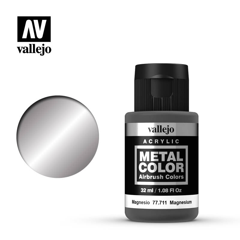 Metal Color Magnesium Acrylic Paint, 32 ml Bottle By Acrylicos Vallejo