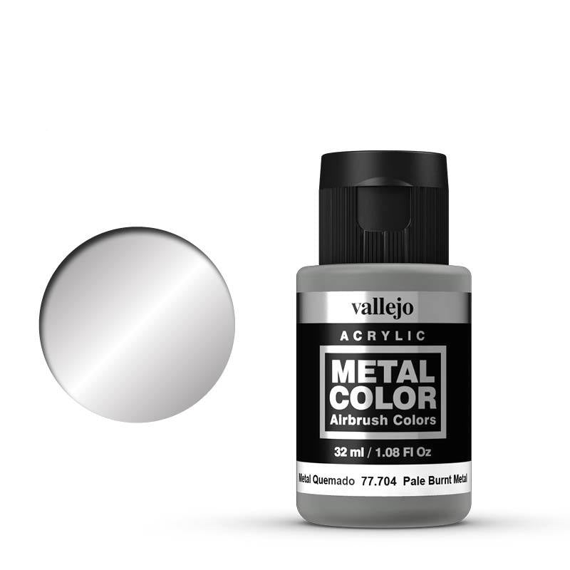 Metal Color Pale Burnt Metal Acrylic Paint, 32 ml Bottle By Acrylicos Vallejo