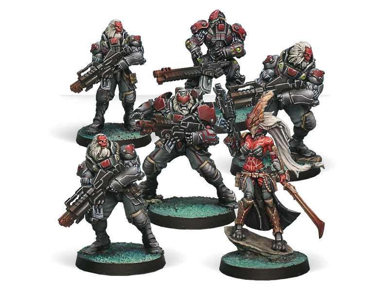 Infinity Combined Army Morat Aggression Force Miniature Game Figures By Corvus Belli