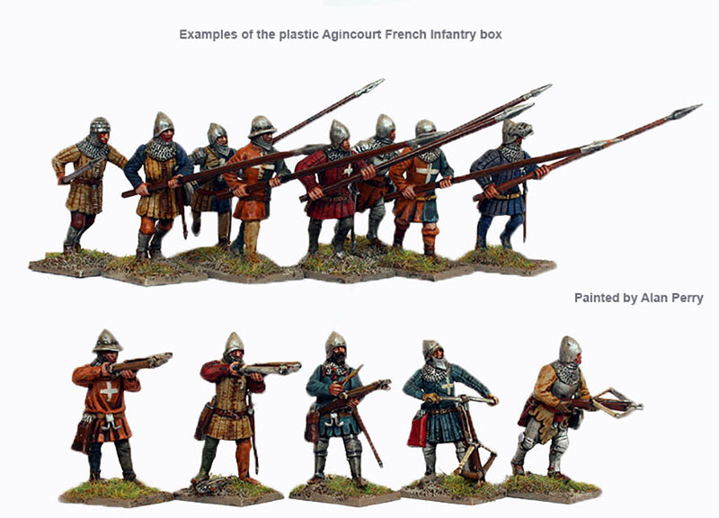 Perry Miniatures Agincourt French Infantry 28 mm Plastic Miniatures Example