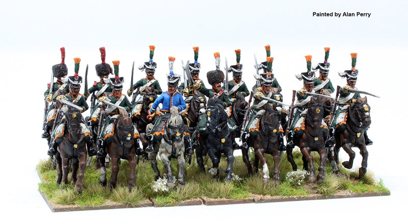 Napoleonic French Line Chasseurs à Cheval 1808 – 1815, 28 mm Scale Model Plastic Figures Painted