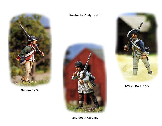 American War Of Independence Continental Infantry 1776-1783, 28 mm Scale Model Plastic Figures