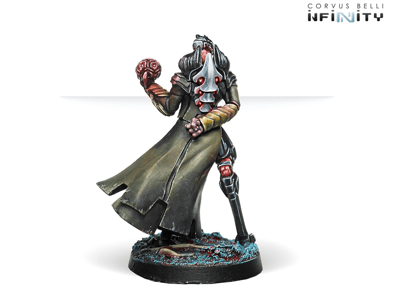 Infinity Combined Army Pneumarch of the Ur Hegemony (High Value Target) Miniature Game Figure Rear View