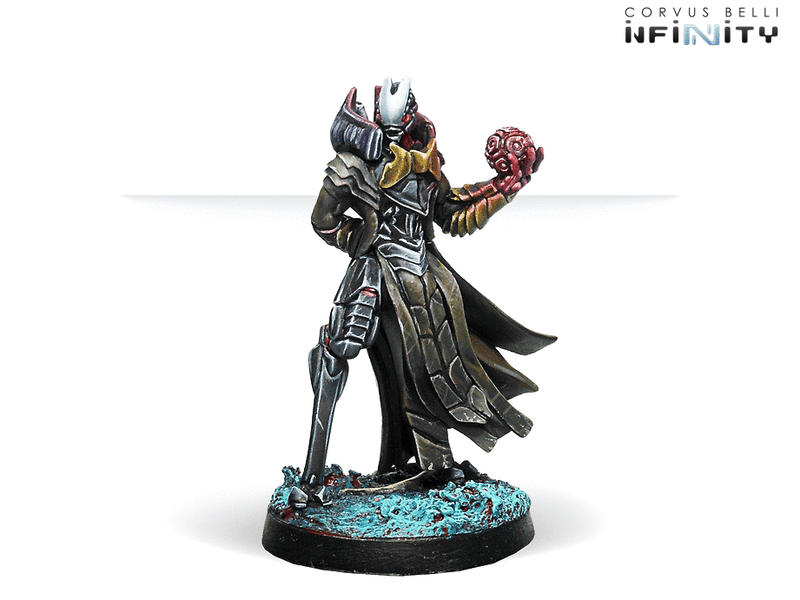 Infinity Combined Army Pneumarch of the Ur Hegemony (High Value Target) Miniature Game Figure Side View