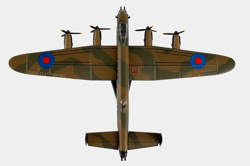 "Avro Lancaster RAF ""Just Jane"" 1/150  Scale Model By Daron Postage Stamp Top View"