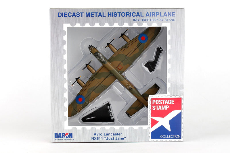 "Avro Lancaster RAF ""Just Jane"" 1/150  Scale Model By Daron Postage Stamp Box"