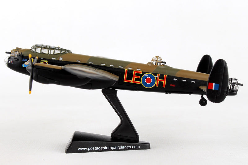 "Avro Lancaster RAF ""Just Jane"" 1/150  Scale Model By Daron Postage Stamp Left Side View"