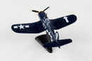 Vought F4U Corsair 1/100 Scale Model By Daron Postage Stamp Left Rear View