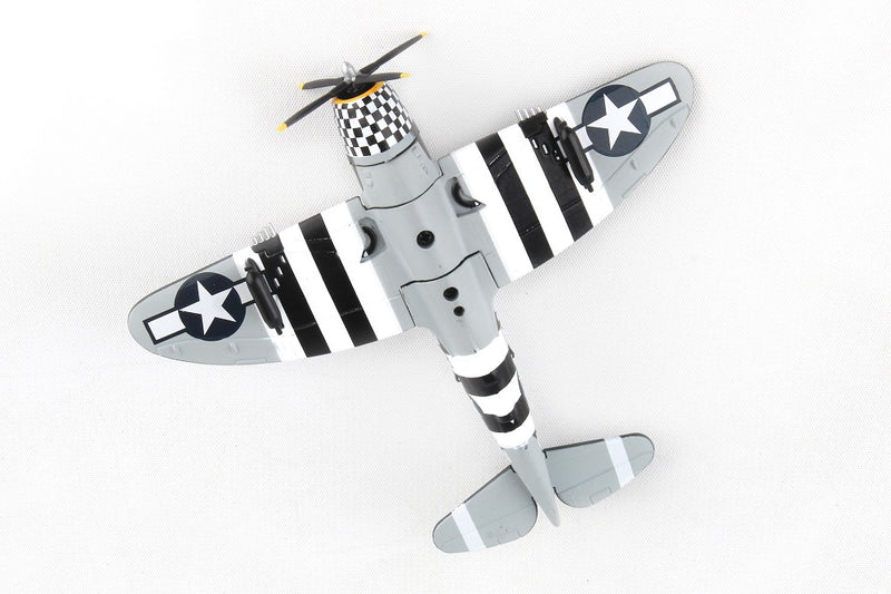"Republic P-47 Thunderbolt ""SNAFU"" 1944, 1/100  Scale Model By Daron Postage Stamp Bottom View"