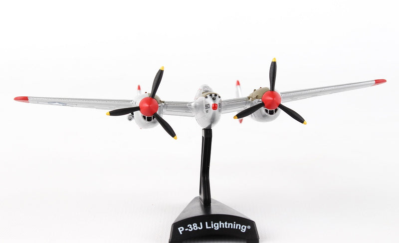 "Lockheed P-38J Lightning ""Marge""  1/115  Scale Model By Daron Postage Stamp Front View"