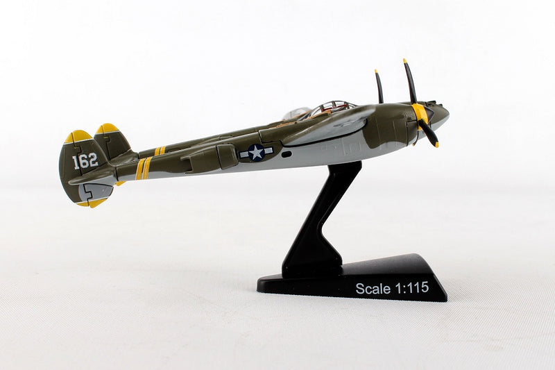 "Lockheed P-38J Lightning ""23 Skido"" 1/115  Scale Model By Daron Postage Stamp Right Side View"