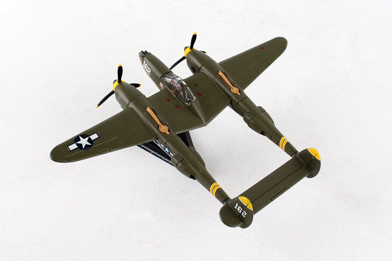 "Lockheed P-38J Lightning ""23 Skido"" 1/115  Scale Model By Daron Postage Stamp Top View"