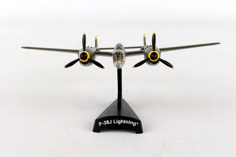 "Lockheed P-38J Lightning ""23 Skido"" 1/115  Scale Model By Daron Postage Stamp Front View"