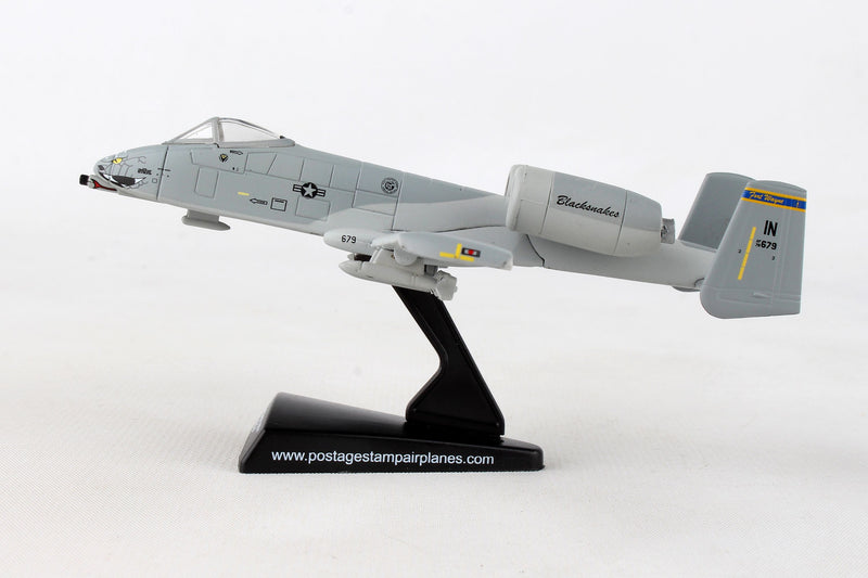 "Fairchild Republic A-10 Thunderbolt II (Warthog) 163rd FS ""Blacksnakes"" 1:140 Scale Diecast Model By Daron Left Side View"