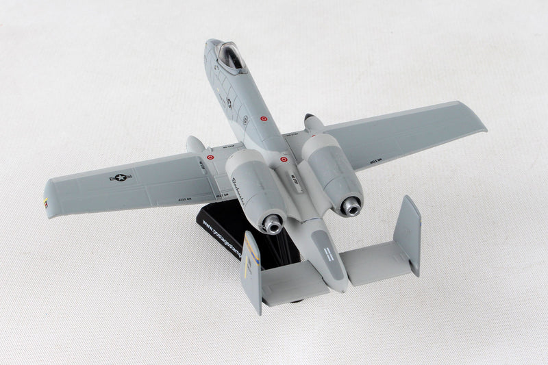 "Fairchild Republic A-10 Thunderbolt II (Warthog) 163rd FS ""Blacksnakes"" 1:140 Scale Diecast Model Left Rear View"