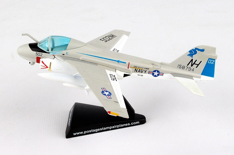 "Grumman A-6E Intruder VA-52 ""Knightriders"" 1/140  Scale Model Left Side View"