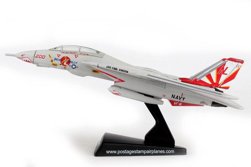 "Grumman F-14 Tomcat ""Miss Molly"" 1/160 Scale Model By Daron Postage Stamp Left Side View"