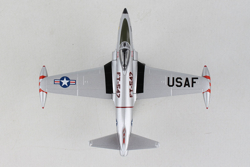 Lockheed F-80 Shooting Star 1:96 Scale Model By Daron Postage Stamp Top View