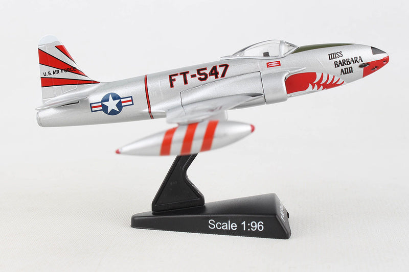 Lockheed F-80 Shooting Star 1:96 Scale Model By Daron Postage Stamp Right Side View
