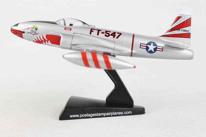 Lockheed F-80 Shooting Star 1:96 Scale Model By Daron Postage Stamp Left Side View