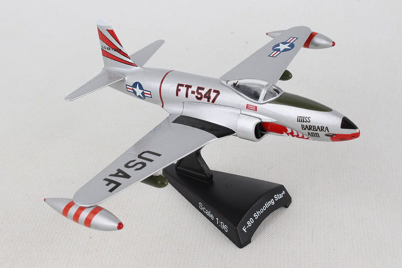 Lockheed F-80 Shooting Star 1:96 Scale Model By Daron Postage Stamp Right Front View
