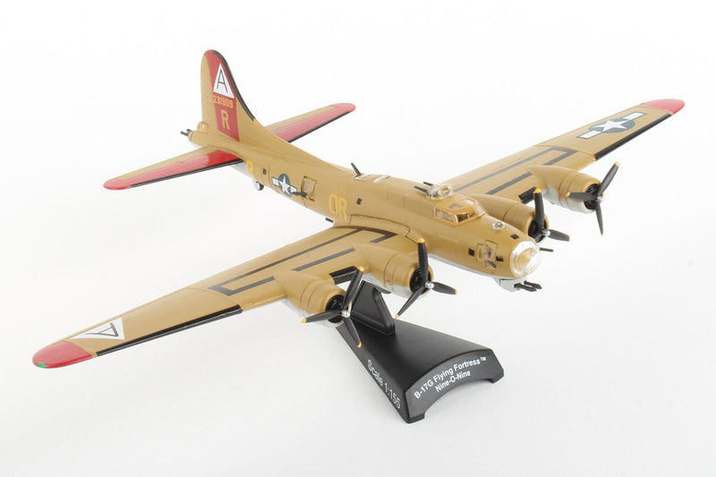 "Boeing B-17G Flying Fortress ""Nine-O-Nine"" 1:155 Scale Model By Daron Postage Stamp Right Front View"