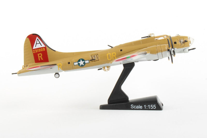 "Boeing B-17G Flying Fortress ""Nine-O-Nine"" 1:155 Scale Model By Daron Postage Stamp Right Side View"