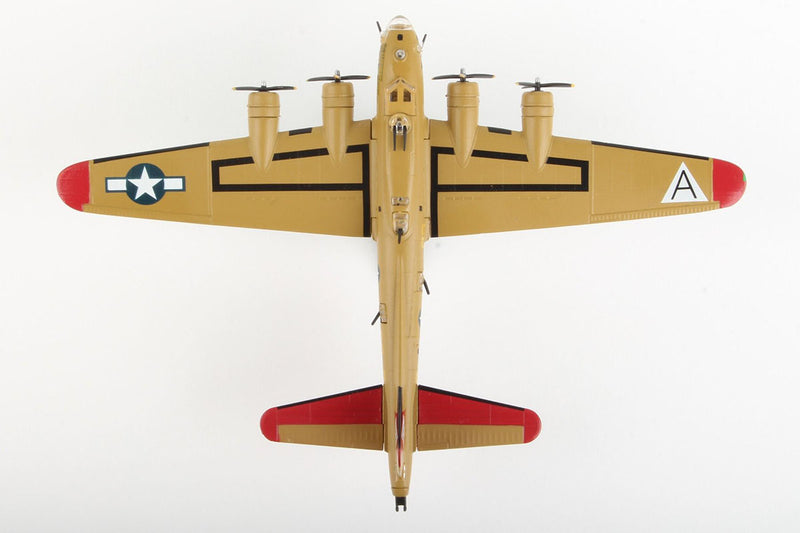 "Boeing B-17G Flying Fortress ""Nine-O-Nine"" 1:155 Scale Model By Daron Postage Stamp Top View"