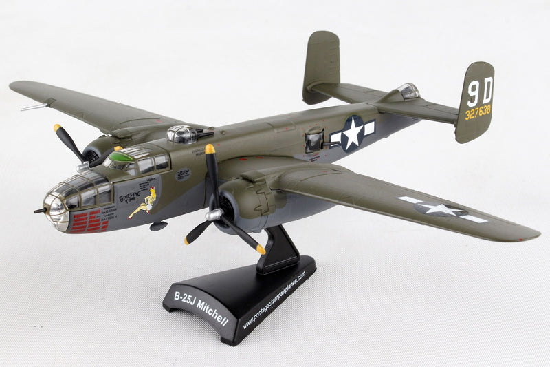 "North American B-25J Mitchell ""Briefing Time"" 1:100 Scale Diecast Model Daron Postage Stamp"