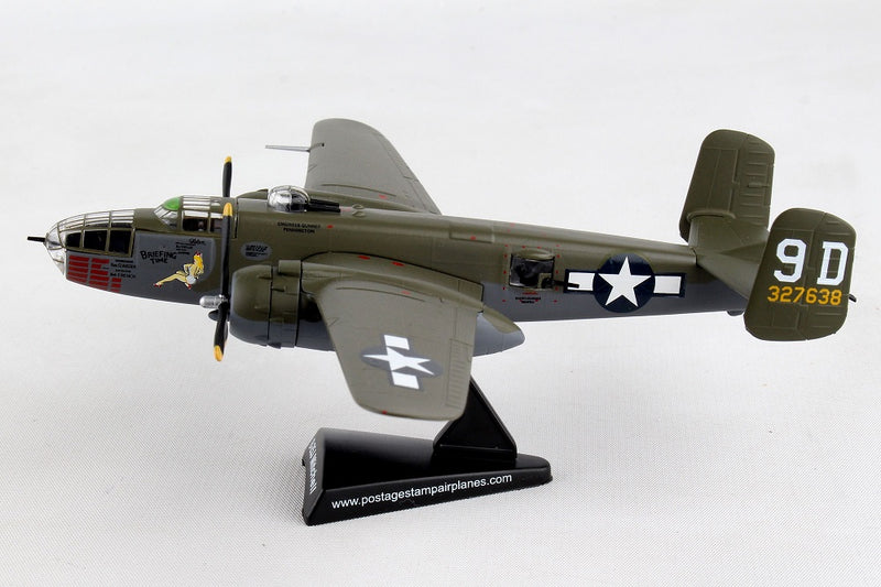"North American B-25J Mitchell ""Briefing Time"" 1:100 Scale Diecast Model Left Side View"