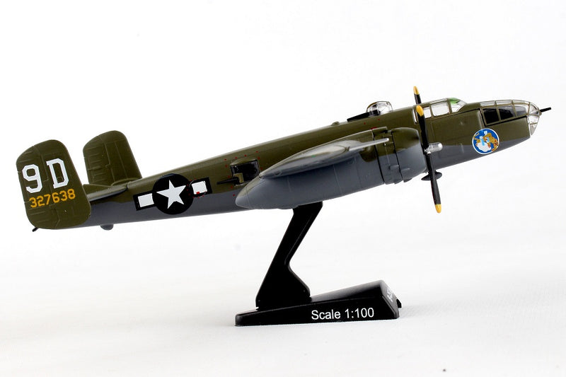 "North American B-25J Mitchell ""Briefing Time"" 1:100 Scale Diecast Model Right Side View"