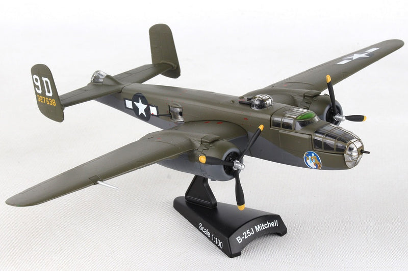 "North American B-25J Mitchell ""Briefing Time"" 1:100 Scale Diecast Model Right Front View"