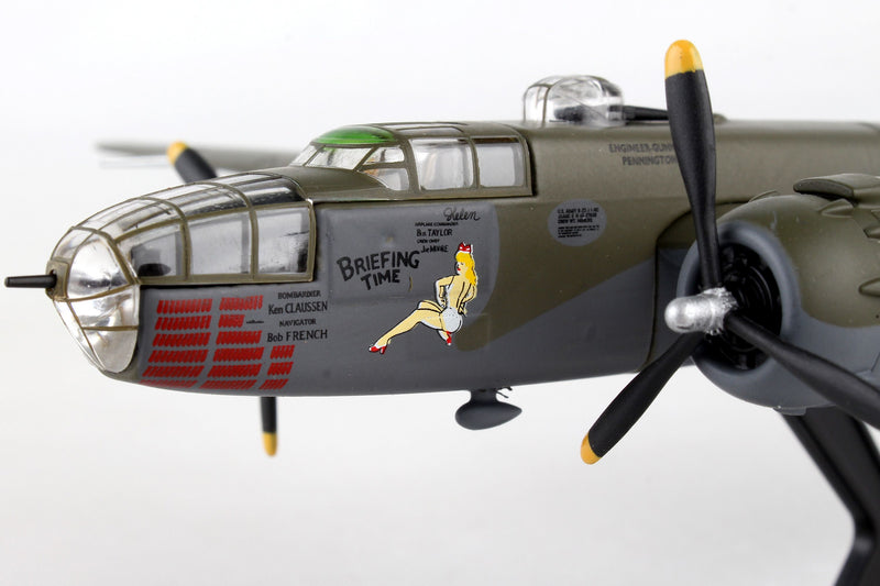 "North American B-25J Mitchell ""Briefing Time"" 1:100 Scale Diecast Model Left Nose Detail"