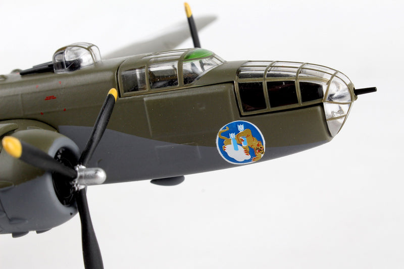 "North American B-25J Mitchell ""Briefing Time"" 1:100 Scale Diecast Model Right Nose Detail"