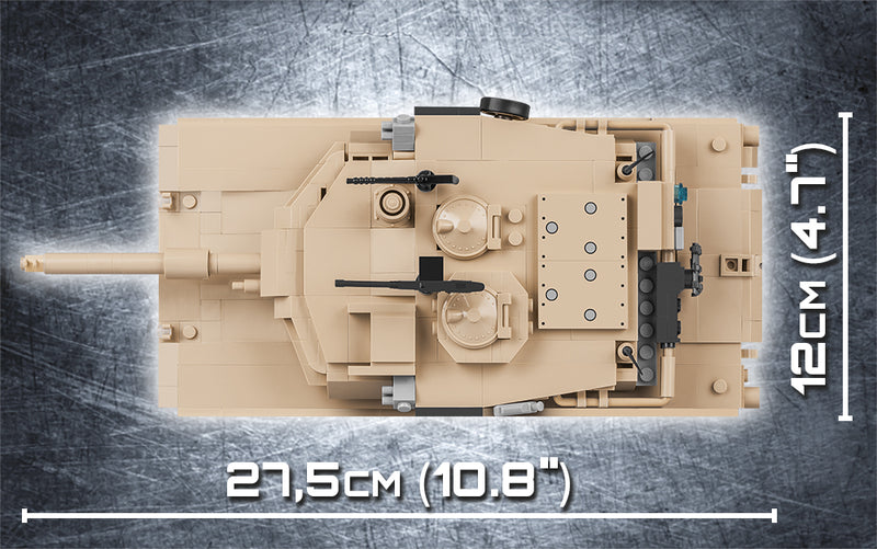 M1A2 Abrams Main Battle Tank, 810 Piece Block Kit By Cobi Top View Dimensions