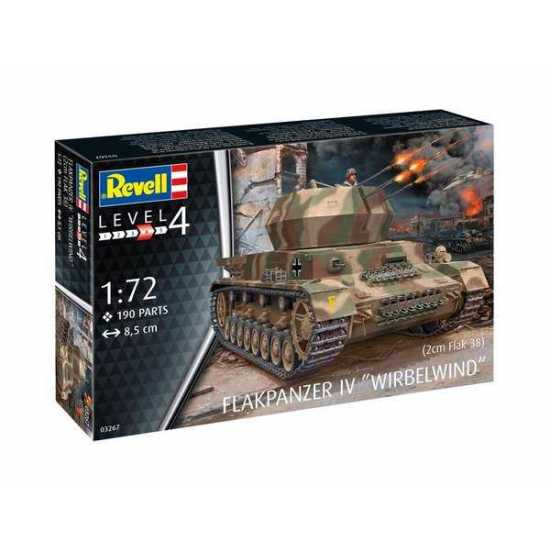 "Flakpanzer IV ""Wirbelwind"" 1/72 Scale Model Kit By Revell Germany Box"