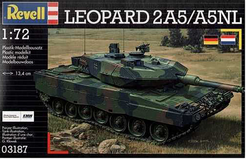 Leopard 2A5/A5NL Main Battle Tank 1/72 Scale Model Kit By Revell Germany Box Front