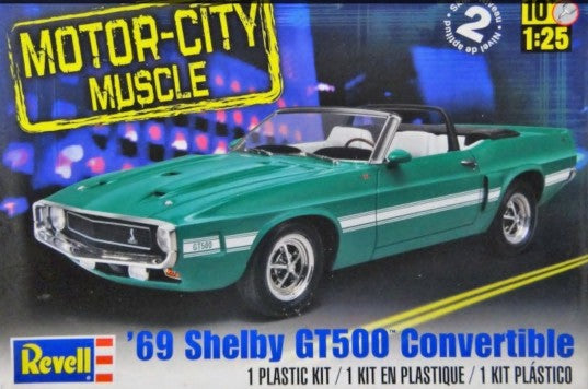 1969 Shelby GT500 Convertible 1:25 Scale Model Kit By Revell