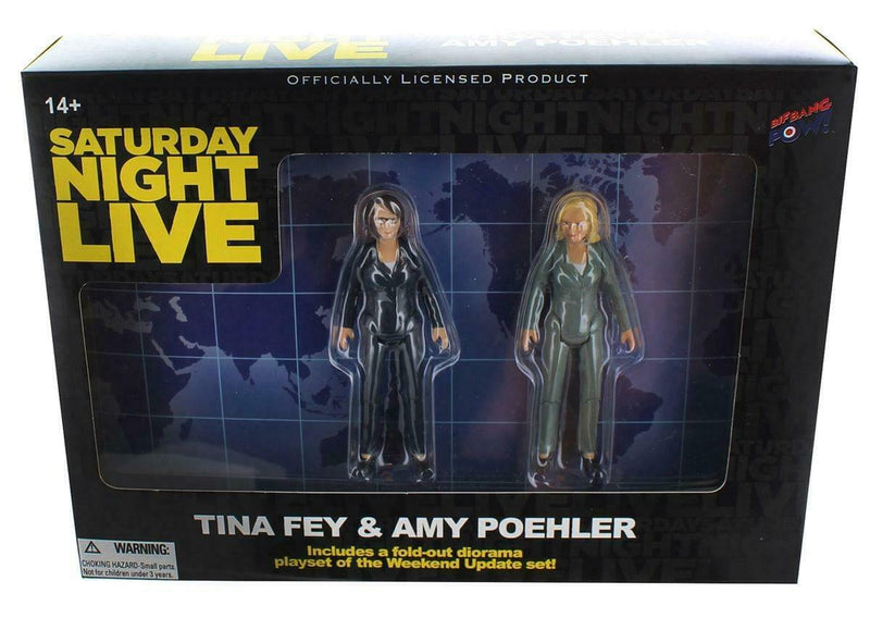 Saturday Night Live Weekend Update Tina Fey & Amy Poehler Action Figures
