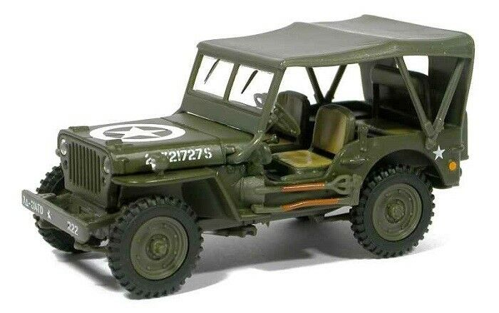 Willys MB Jeep 4 X 4 1:43 Scale Model By Cararama Left Side View