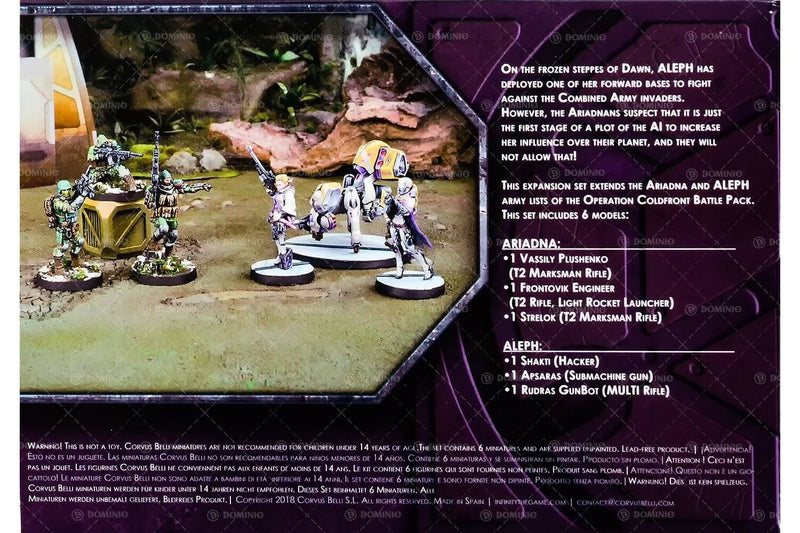 Beyond Coldfront Infinity Miniature Game Figure Set Back Of Box